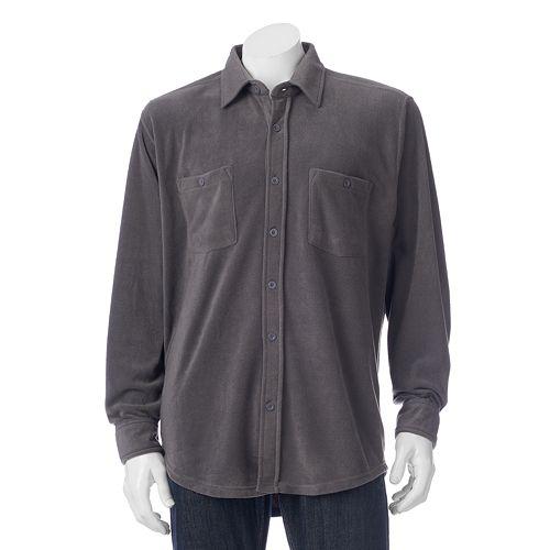 Men's Victory Rugged Wear Microfleece Button-Down Shirt Jacket