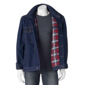 Big & Tall North 40 Flannel-Lined Denim Jacket