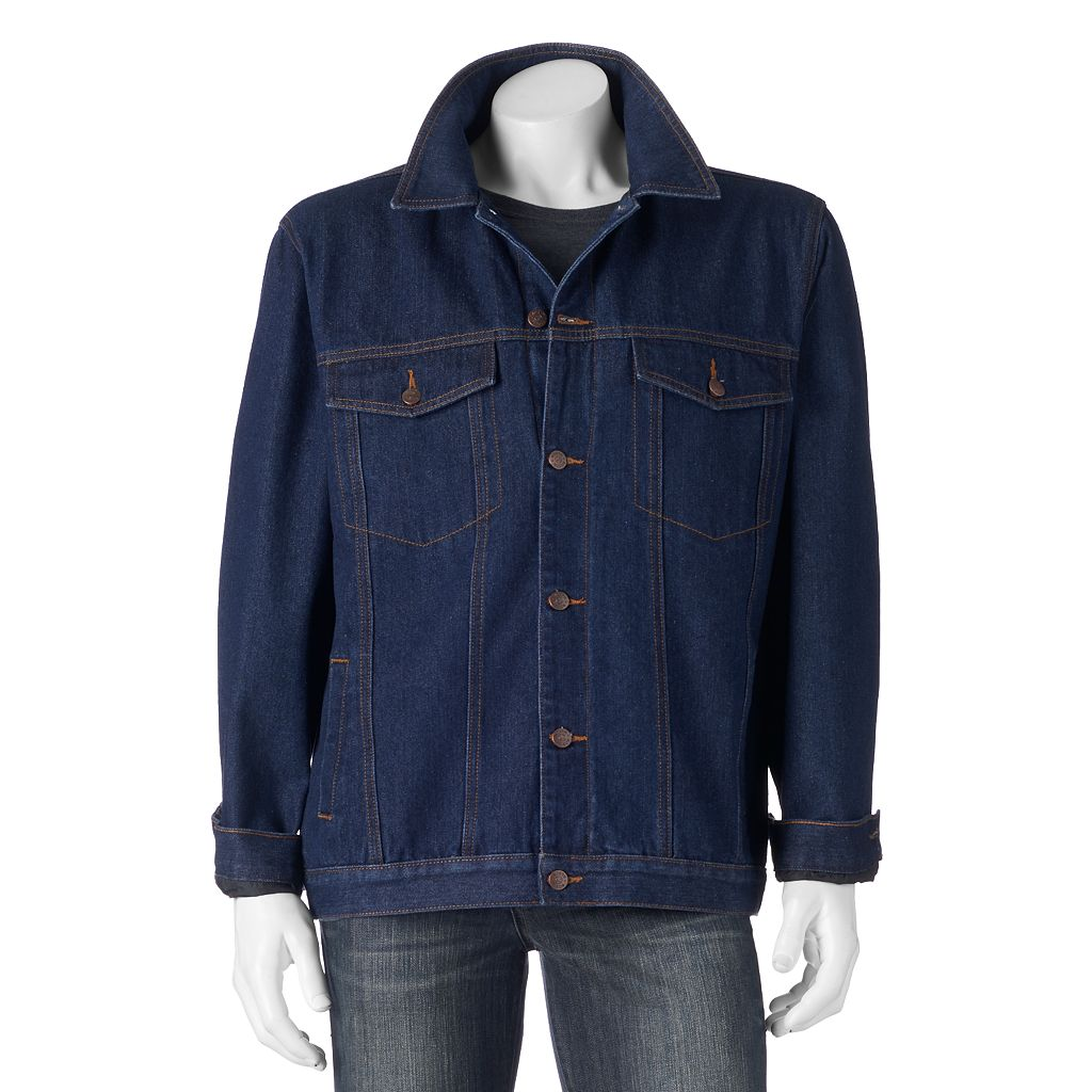 Big & Tall North 40 Flannel-Lined Denim Jacket