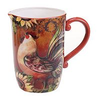 Certified International Sunflower Rooster 3.25-qt. Drink Pitcher