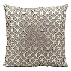 Mina Victory Couture Romantic Leather Throw Pillow