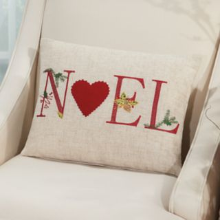 Mina Victory Home for the Holidays ''Noel'' Oblong Throw Pillow
