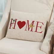 Mina Victory Home for the Holidays ''Home'' Oblong Throw Pillow