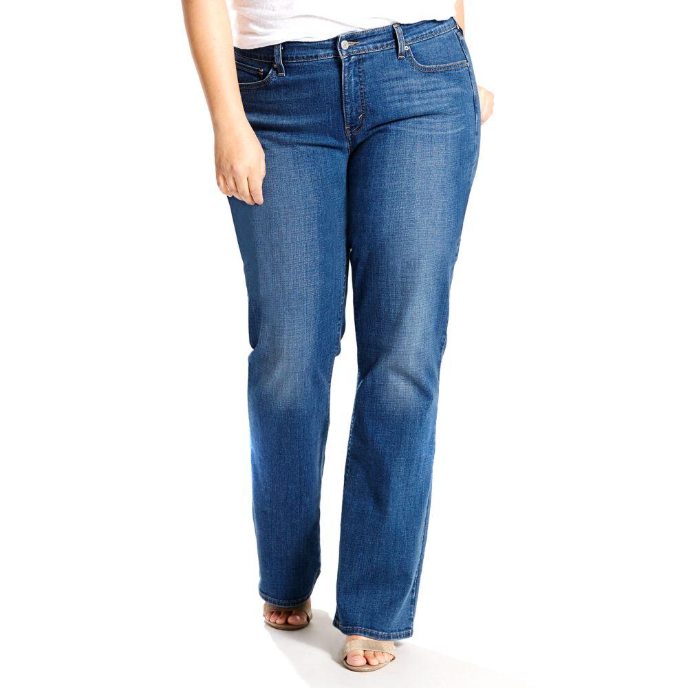 plus size levi's® 415 relaxed fit bootcut jeans