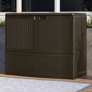 Suncast Backyard Oasis Top Lid Storage & Entertaining Station