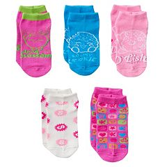 Girls Shopkins 5 pkNo-Show Socks