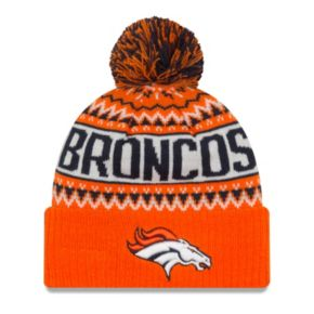 Adult New Era Denver Broncos Wintry Beanie