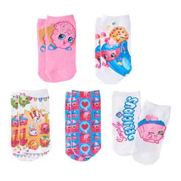 Girls Shopkins 5-pk. No-Show Socks