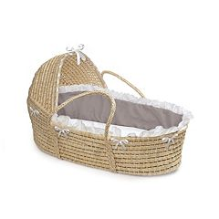 Badger Basket Natural Hooded Moses Basket
