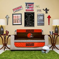 Cleveland Browns Quilted Loveseat Cover