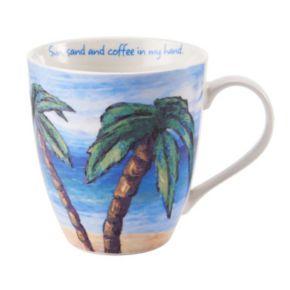 """Pfaltzgraff """"Sun, Sand & Coffee in My Hand"""" Mug"""