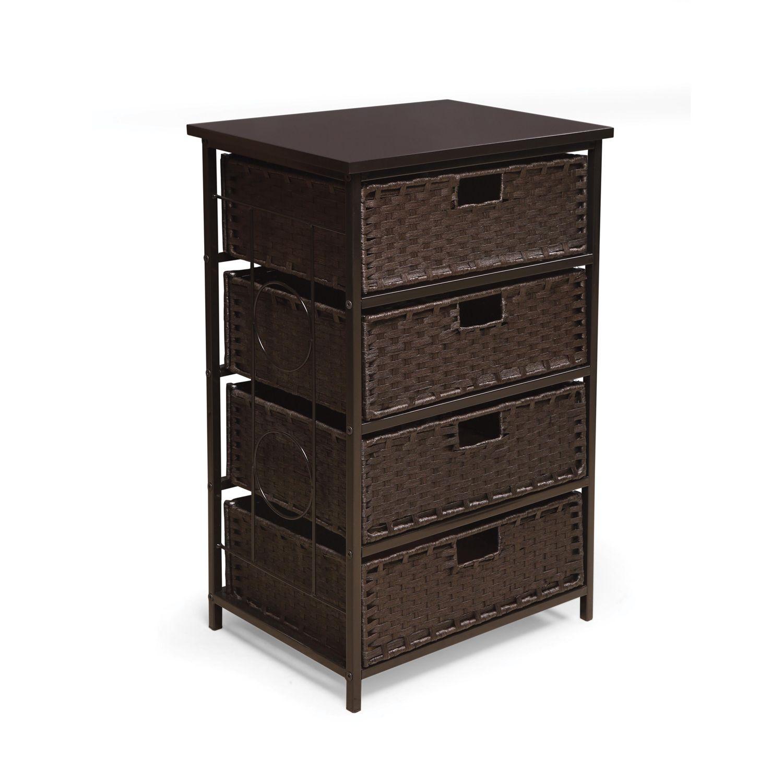 sc 1 st  Kohlu0027s & Badger Basket August Collection Tall 4-Basket Storage Unit