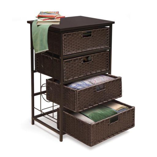 Badger Basket August Collection Tall 4-Basket Storage Unit