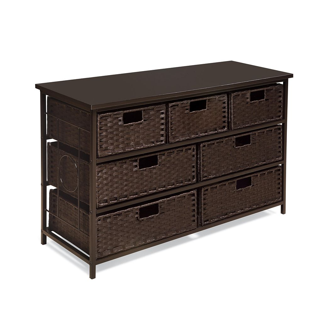Badger Basket August Collection Wide 7-Basket Storage Unit