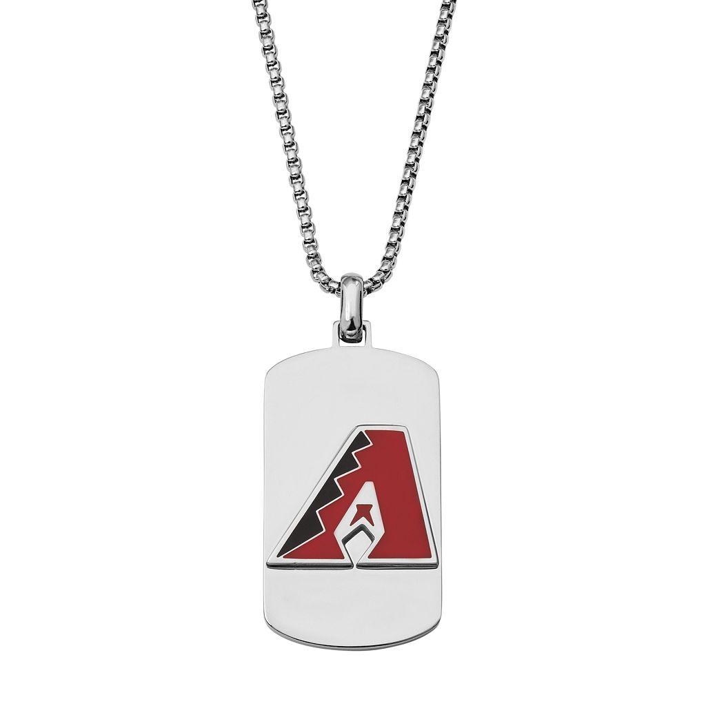 Men's Stainless Steel Arizona Diamondbacks Dog Tag Necklace
