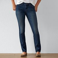Women's SONOMA Goods for Life™ Curvy Fit Straight-Leg Jeans
