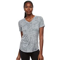 Women's Tek Gear® Easy Burnout V-Neck Yoga Tee