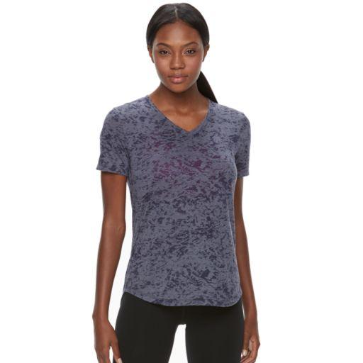 Women's Tek Gear® Easy Burnout V-Neck Yoga Tee