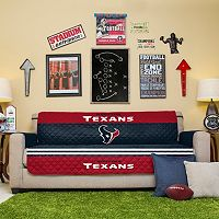 Houston Texans Quilted Sofa Cover