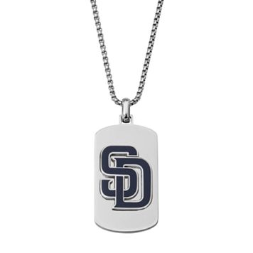 Men's Stainless Steel San Diego Padres Dog Tag Necklace