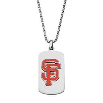 Men's Stainless Steel San Francisco Giants Dog Tag Necklace