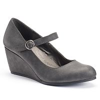 SO® Women's Mary Jane Wedges