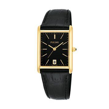 Pulsar Men's Leather Watch - PG8250