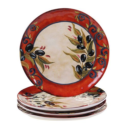 Certified International Umbria 4-pc. Dinner Plate Set