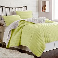 Whip Stitch Reversible 3 pc Coverlet Set
