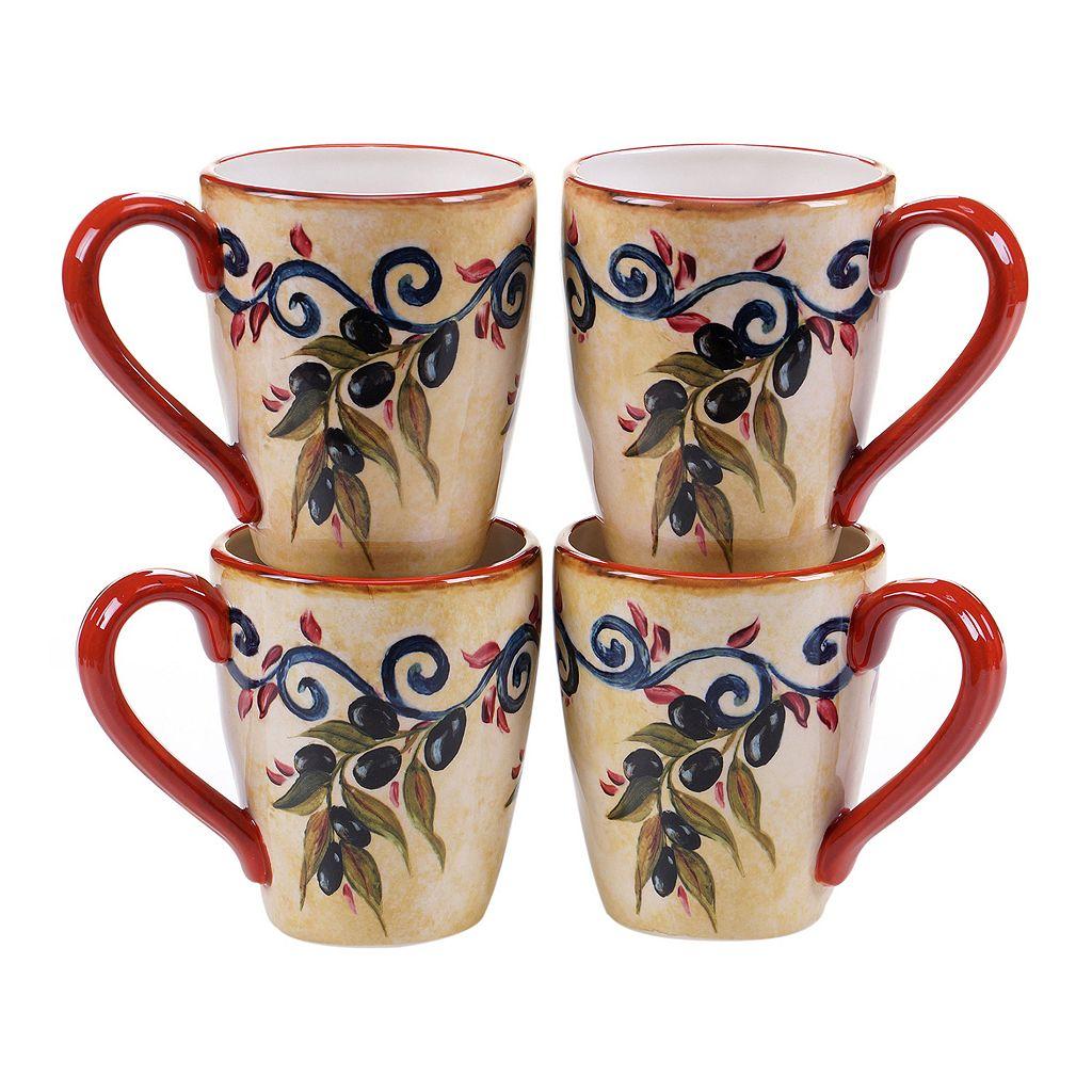 Certified International Umbria 4-pc. Mug Set
