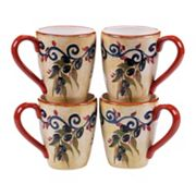 Certified International Umbria 4 pc Mug Set