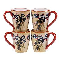 Certified International Umbria 4 pc Mug Set