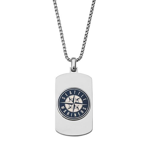 Men's Stainless Steel Seattle Mariners Dog Tag Necklace