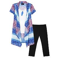 Girls 7-16 & Plus Size IZ Amy Byer Mock-Layer Top, Leggings & Necklace Set