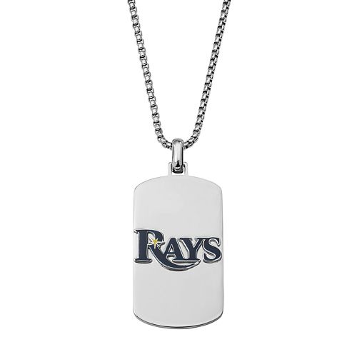 Men's Stainless Steel Tampa Bay Rays Dog Tag Necklace