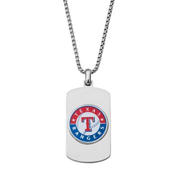 Men's Stainless Steel Texas Rangers Dog Tag Necklace