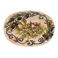 Certified International Umbria Oval Serving Platter