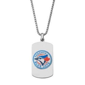 Men's Stainless Steel Toronto Blue Jays Dog Tag Necklace
