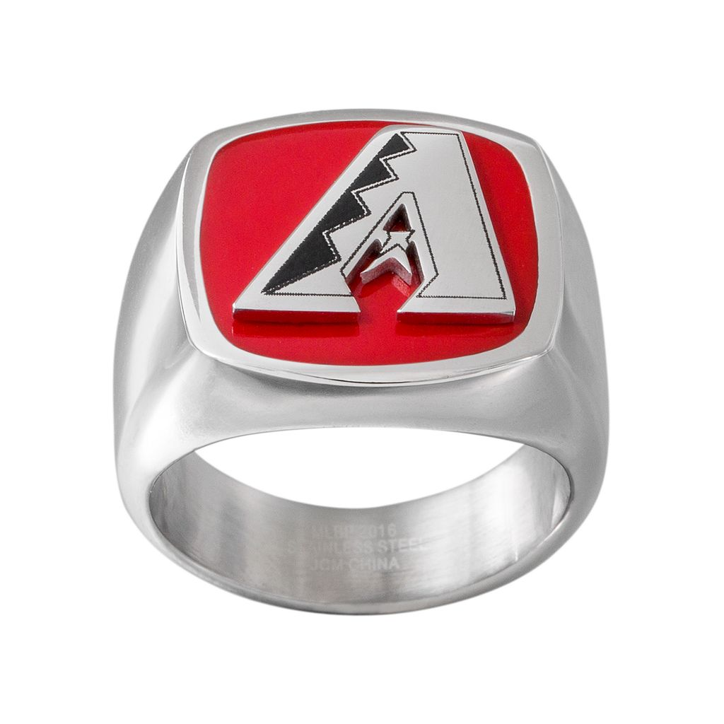 Men's Stainless Steel Arizona Diamondbacks Ring