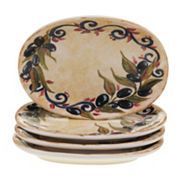 Certified International Umbria 4 pc Oval Appetizer Plate Set