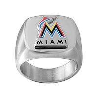 Men's Stainless Steel Miami Marlins Ring