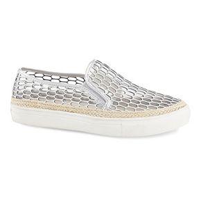 Sale Henry Ferrera Ocean Club Women's Slip-On Shoes Silver
