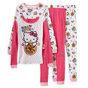 Girls 4-10 Hello Kitty® 4-pc. Pizza Pajama Set