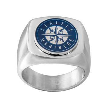 Men's Stainless Steel Seattle Mariners Ring