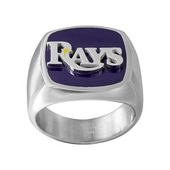 Men's Stainless Steel Tampa Bay Rays Ring