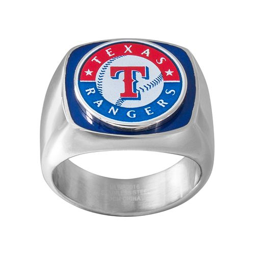 Men's Stainless Steel Texas Rangers Ring