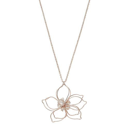 Mudd® Long Wire Flower Pendant Necklace