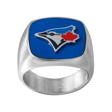 Men's Stainless Steel Toronto Blue Jays Ring