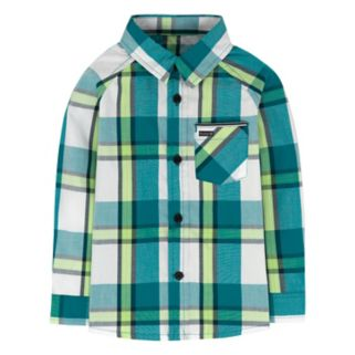 Baby Boy Hurley Plaid Raglan Top