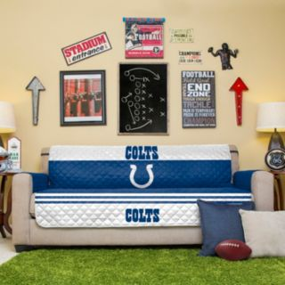Indianapolis Colts Quilted Sofa Cover